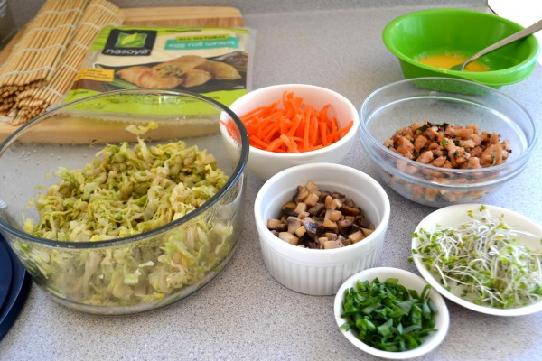 egg roll mise en place