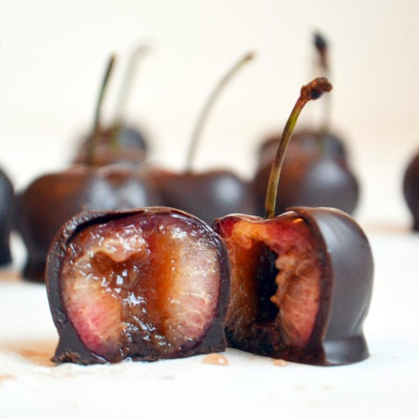 Chocolate Dipped Brandy Soaked Cherries