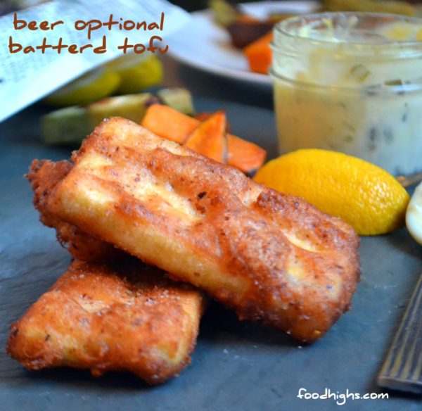 Beer optional crispy battered tofu